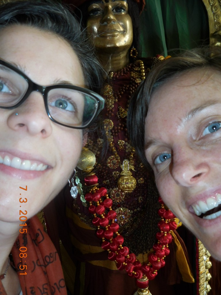 Selfie with Swamiji's deity!