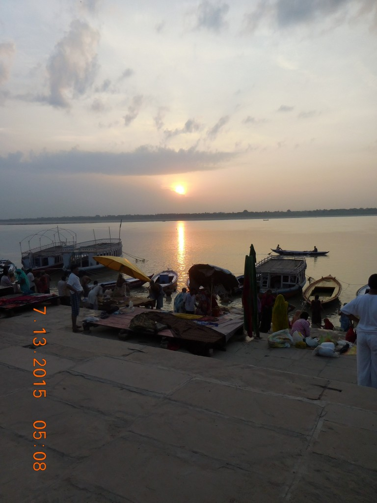 Sunrise on Ganga.