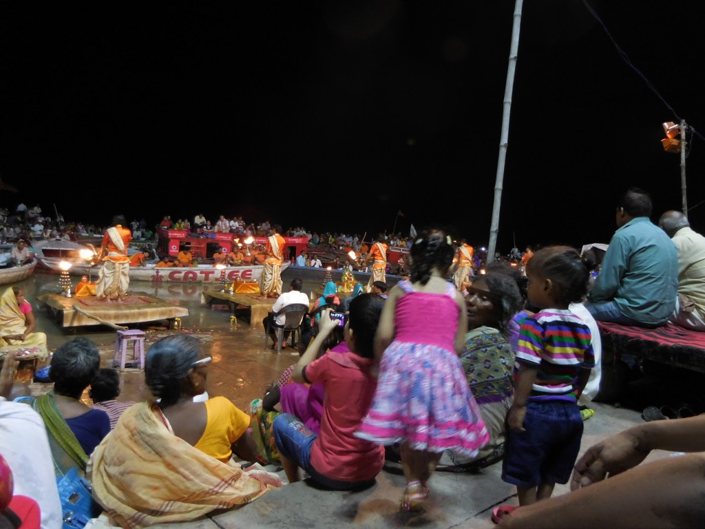 A choreographed dance of fire, incense and chants.