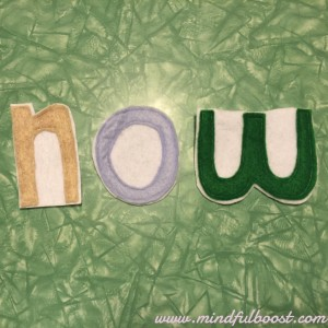 Some felt letters I free handed with scissors and then backed with contrasting felt to make them more sturdy and maintain their shape.